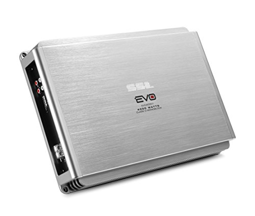 Sound Storm EVO4000.1 EVO 4000 Watt, 1 Ohm Stable Class D Monoblock Car Amplifier with Remote Subwoofer Control ()