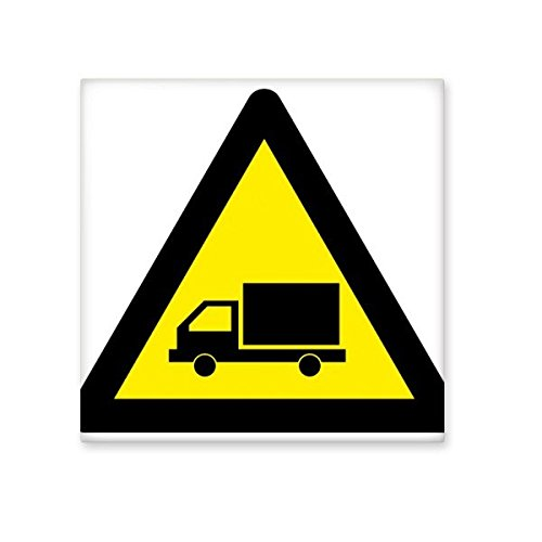 Warning Symbol Yellow Black Truck Triangle Sign Mark Logo Notices