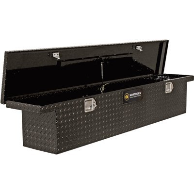 Northern Tool + Equipment Lo-Pro Slimline Aluminum Crossbed Truck Box - Black, 70in. Box (Black Truck Tool Box)