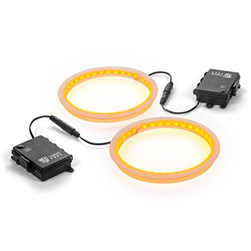 Tailgating Pros Premium 36 LED Cornhole Light Ring Set - 6 Color Options + Multicolored (Amber)
