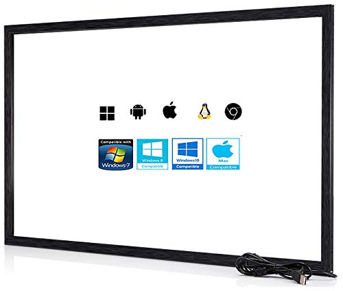 (Chengying 49 Inch 10 Points Multi-Touch Infrared Touch Frame - IR Touch Panel - 49 Inches Infrared Touch Overlay - USB Driver Free HID Compatible)
