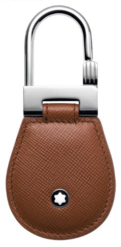 Mont Blanc Meisterstuck Leather Key Fob in Cognac