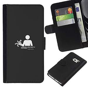 All Phone Most Case / Oferta Especial Cáscara Funda de cuero Monedero Cubierta de proteccion Caso / Wallet Case for Samsung Galaxy S6 EDGE // Need freedom no controlled