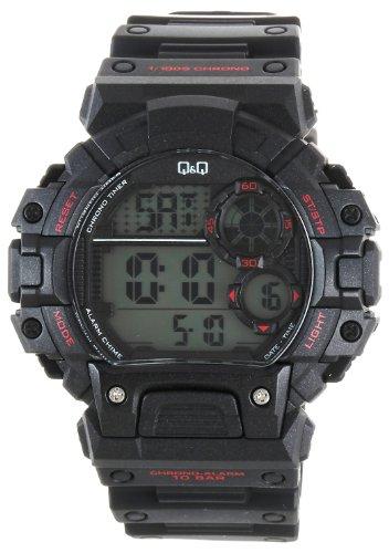 Q amp;Q Regular Digital White Dial Men #39;s Watch   M144J003Y