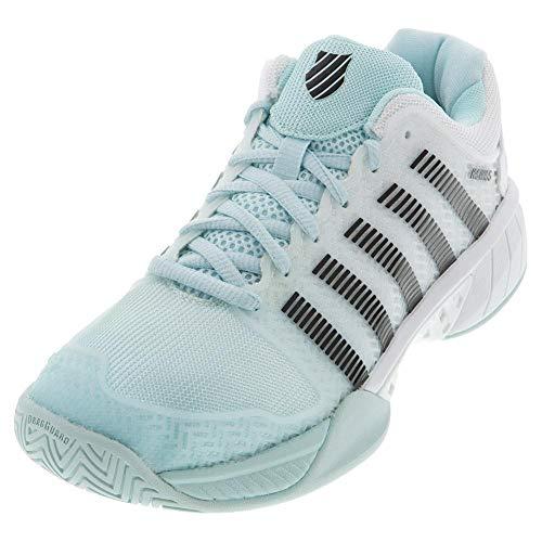 K-Swiss Women's Hypercourt Express Tennis Shoe (Pastel Blue/Blk/Wht, 8.5)