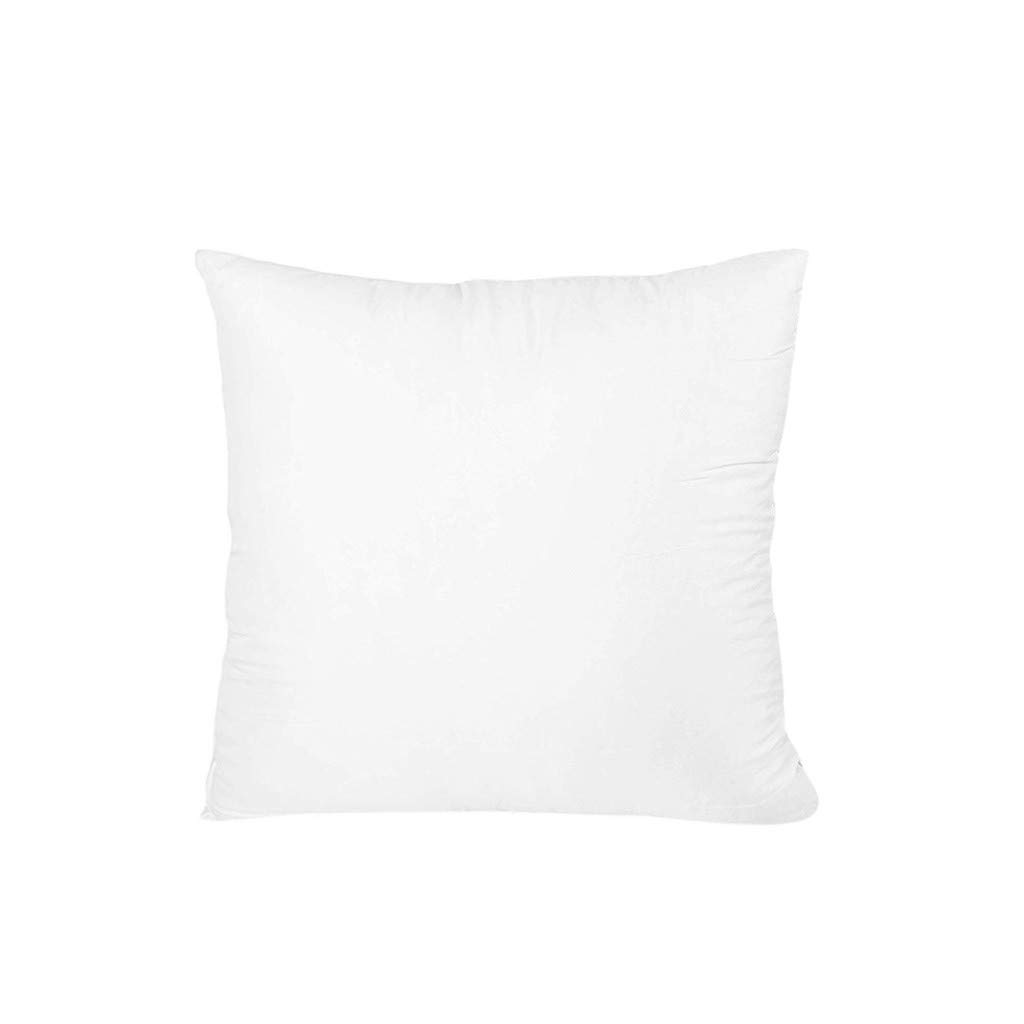 Binory 1pc Cotton Cover Hypoallergenic Down Substitute Polyester Square Pillow Core 45x45cm,Throw Pillow Insert Form Decorative Pillow Cushion Cover by Binory