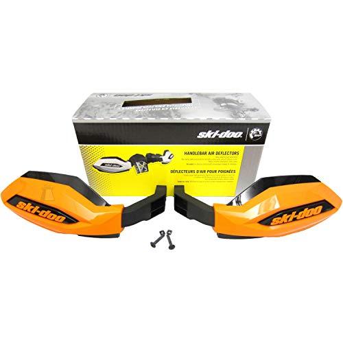 Ski-Doo New OEM Handlebar Air Wind Deflectors Hand Guards Orange REV-XP,XR,XM,XU