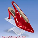 Retails Contoured Acrylic Shoe Display 4 1/2 in. W x 4 in. H