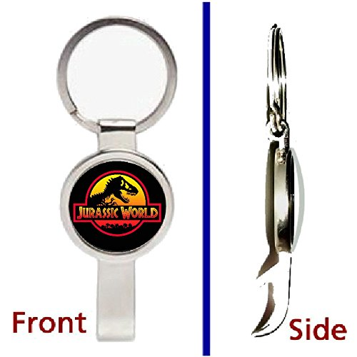 Jurassic World Park Movie Prop Pennant Or Keychain Silver Tone Secret Bottle Opener