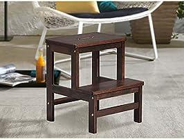 Sgabello a più livelli in legno massello sgabello scaletta