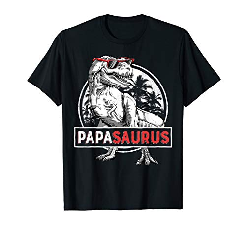 Papasaurus T shirt T rex Papa Saurus Dinosaur Men Dad Daddy -