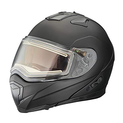 Polaris New Matte Black Eclipse Modular Snowmobile Helmet, Medium, - Helmet Modular Snow Eclipse