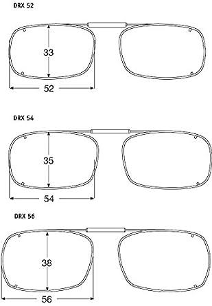 987f7dd44f Visionaries Polarized Clip on Sunglasses - DRX Rec - Gun Frame - 52 x 33  Eye at Amazon Men s Clothing store
