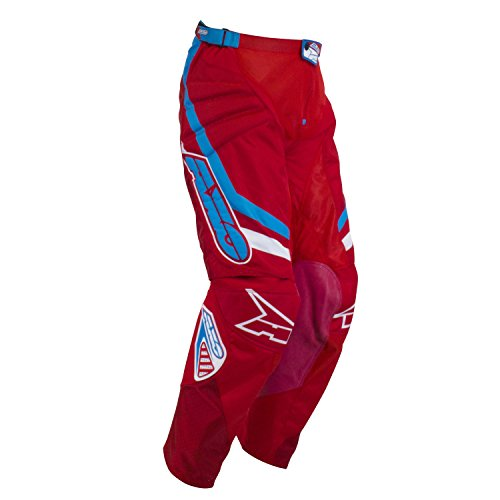 AXO Unisex-Adult Trans-Am Pants (Red/white/blue, Size 34)