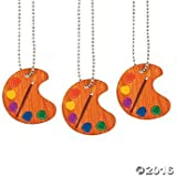 Artist Paint Palette Necklaces - 12 ct