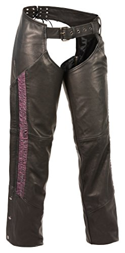 Milwaukee Leather Women's Hip Set Pocket Chap with Crinkl...