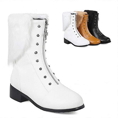 Caldi 43 In Invernali Stivali stivali 34 Bianca Cotone Neve Da Donna Per scarpe Rotondi Wsr 1wq0ZZO