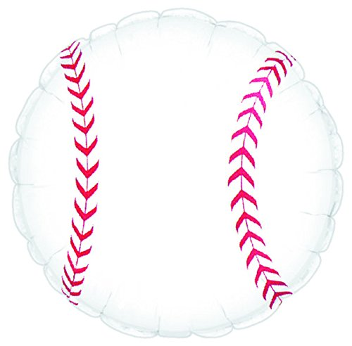 Baseball Sports Round Shaped 17 Inch Mylar Balloon Bulk (5 Pack) by CTI