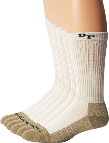 - Dan Post  Men's Dan Post Work & Outdoor Socks Mid Calf Mediumweight Steel Toe 6 pack Natural Medium