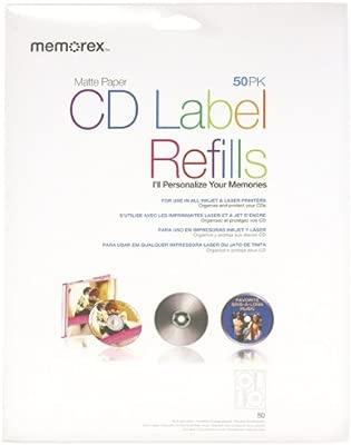 Memorex CD Labels Blanco - Etiquetas de impresora (Blanco ...