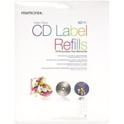 Memorex White CD-R Labels 3202-0412, 50-Count