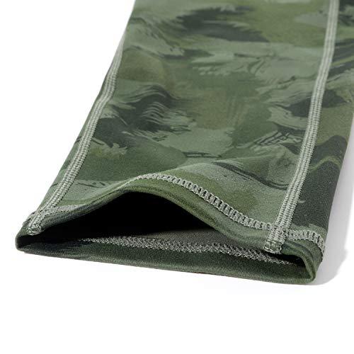 OMKAGI Women Camo High Waisted Workout Leggings with Pockets Seamless Tummy Control Yoga Pants(M,Army Green)