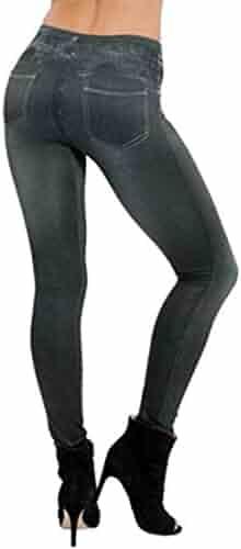 73dc70bb146 Fensajomon Womens High Waist Skinny Legging Jeans Denim Pencil Pants  Trousers