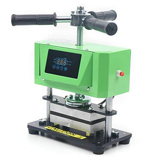 800W 동 기계를 가진 이중 가열판 110V 듀얼 난방기 기계를 만드는 가죽을 눌러 설명서는 수동 핸들 2.4X4.7