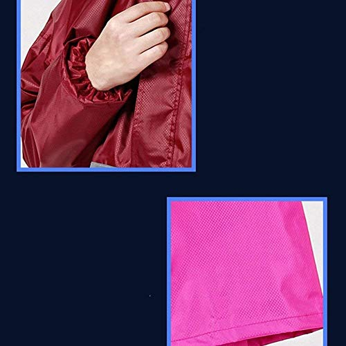 Grande Raincoat Mujeres Elegantes Color Battercake Respirable D Impermeable Lluvia Moda Outdoor Dos Talla Encapuchado Casuales Pantalon Abrigos Poncho Sólido Chubasquero Adulto Piezas Anchas nqwz6EFY1w