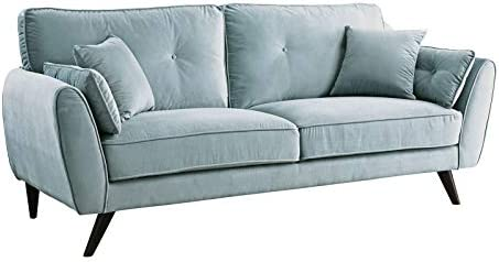 Amazon.com: Benzara BM188335 Wooden Sofa with Angled Legs ...