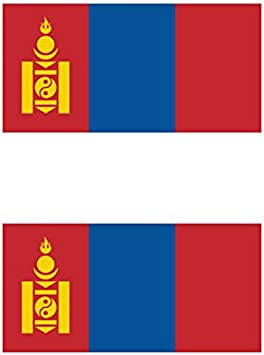 Two Pack Mongolian Flag Sticker FA Graphix Decal Self Adhesive Vinyl Mongolia MNG MN