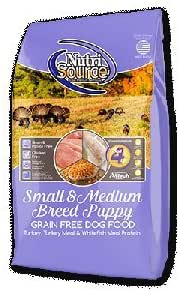 Dog Food: NutriSource Puppy Small & Medium Breed Grain Free