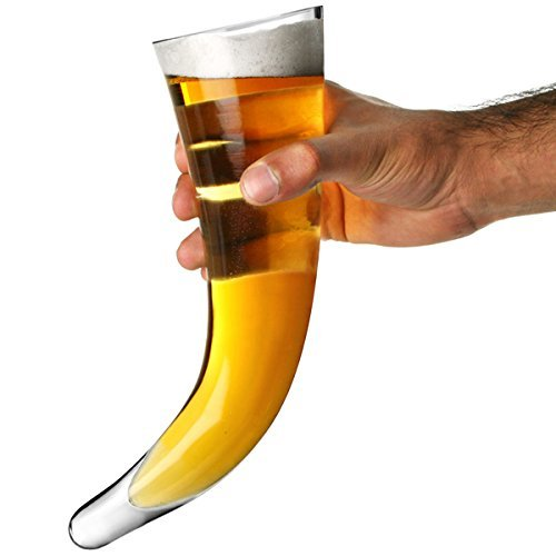 Viking Style Beer Horn Glass (No Stand) 17oz / 480ml