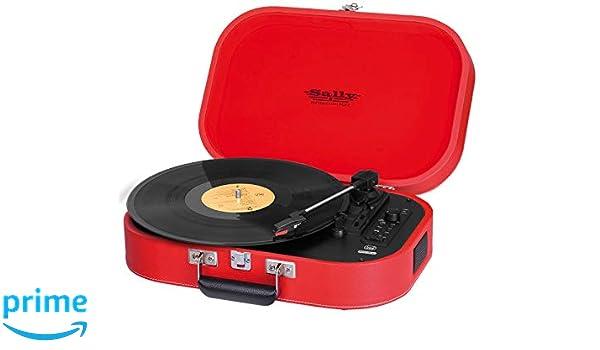 Trevi TT 1020 BT Rojo - Tocadiscos (Rojo, 33,45,78 RPM, Giratorio ...
