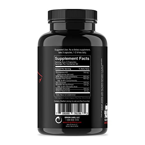Jocko Joint Warfare - 400MG Curcumin - Glucosamine - MSM - Boswellia - Quercetin - Joint Support Supplement 180 Tablets by Origin (Image #1)