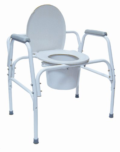 Bedside Commode Extra Wide Steel - 8