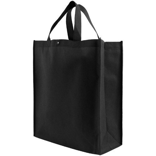 Reusable Grocery Tote Bag Large 10 Pack - Black
