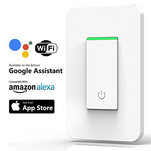 Smart WiFi Light Switch, Joso Alexa Wireless Light Switch Remote Control Timing Function No Hub Required, Compatible with APP, Google Home Assistant & Echo Dot