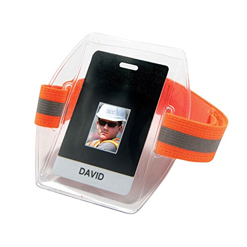 Ergodyne - 3386 Hi-Vis Orange Arm Band ID/Badge Holder (Arm Badge Holder)