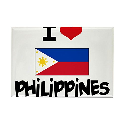 CafePress - I HEART PHILIPPINES FLAG Rectangle Magnet - Rectangle Magnet, 2
