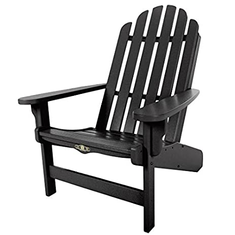 Pawleys Island Furniture Durawood Essential Adirondack Chair   Black