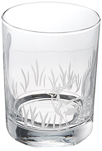 Rolf Glass 218007S/4 Deer Double Old Fashioned Glass 14 oz Clear - Four Double Fashioneds Old