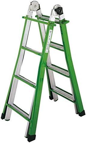 Sicos 137.411 Escalera telescópica Verde, Color blanco escalera - Escalera de mano (39 cm, 850 g): Amazon.es: Bricolaje y herramientas