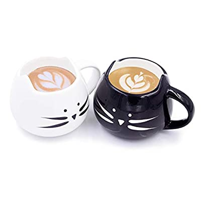 Cat Fan related Products Nofinis Cute Cat Coffee Mug Set – Lovely Ceramic Cat Tea... [tag]