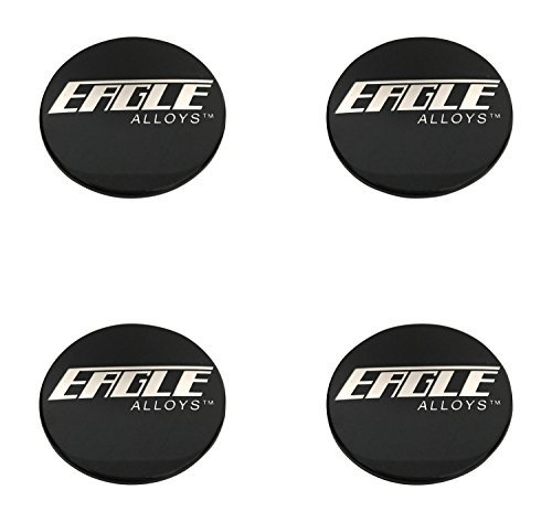 Eagle Alloys Wheels 3087 138 3087-02 51971670F-1 Gloss Black Snap In Center Cap 4 Pack