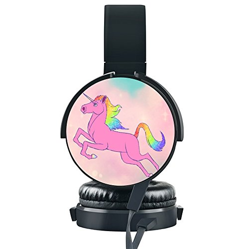 Price comparison product image Inmark-B Universal On-Ear Gaming Headphones,  Stereo Sound with Soft Memory Earmuffs and Noise Cancelling,  Foldable Portable Lightweight Headsets for Cellphone PS4 Xbox PC Laptop,  Unicorn Horse