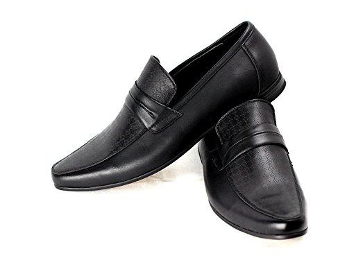 Hombre Sin Cierres Zapatos Formales Italian Mocasines Diseñador Mocasin Trabajo Casual Talla Negro