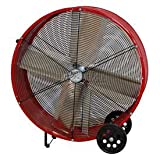 MaxxAir BF30DD REDUPS 30-Inch Direct Drive Commercial Fan, Red