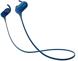 Sony Extra Bass Bluetooth Headphones, Best Wireless Sports Earbuds with Mic/ Microphone, IPX4 Splashproof Stereo Comfort Gym Running Workout up to 8.5 hour battery, blue