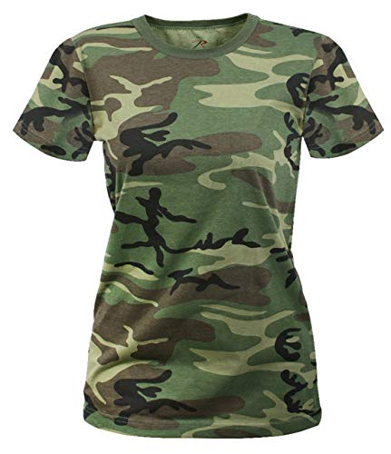 T-shirt Army Cotton Woodland Camo (Rothco Women's Longer T-Shirt, Woodland Camo, X-Large)